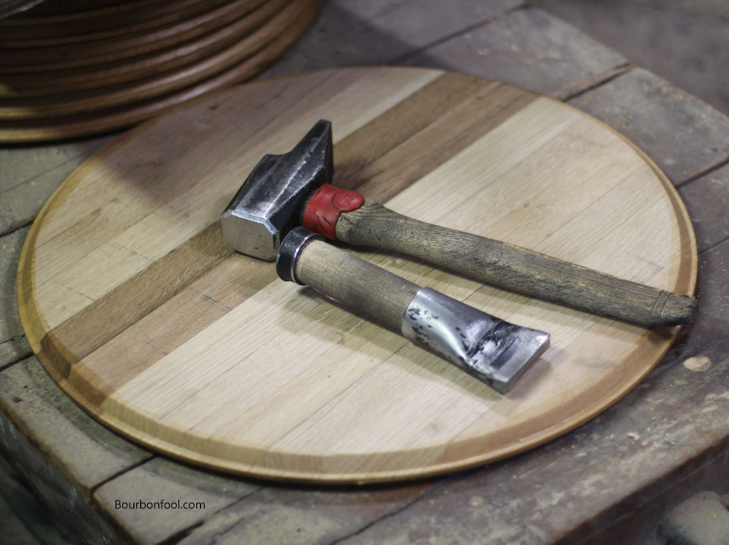 The artistry of barrel making using coopers tools