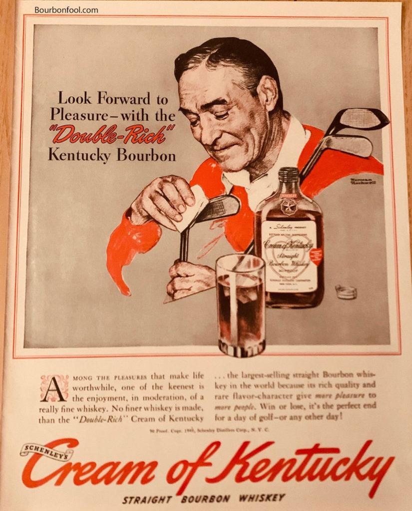Copy of vintage Cream of Kentucky bourbon ad