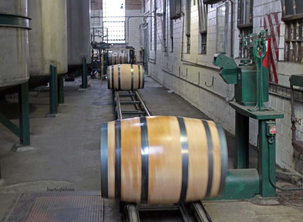 Recently filled Buffalo Trace Barrels