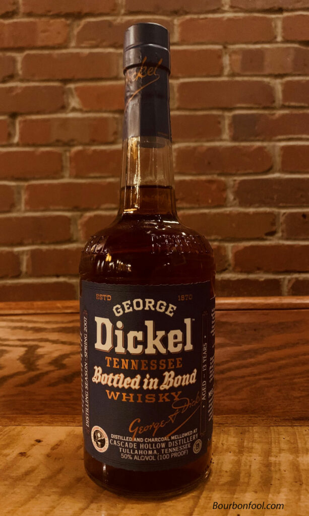 George Dickel Bottled in Bond is a great whisky from Tullahoma Tennessee